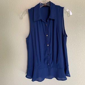 Imaginary Voyage sleeveless blouse.